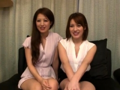 Big-breasted gal in japanese 3some