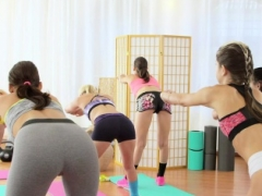 FitnessRooms Young and fresh teens have an intercourse gym teacher