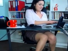 Sexy Soccer mom Playing At Work