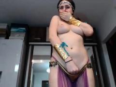 Enthousiasteling, Bruinharig, Masturbatie, Alleen, Speelgoed, Webcamera