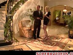 Police babe seducing lucky guy Julia Ann big-breasted blonde