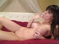 Huge tit babe with whipped cream