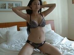 Nice-looking far eastern girl teases and plus puts on a show! - C4R