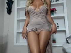 Blonde, Masturbation, Mère que j'aimerais baiser, Solo, Webcam
