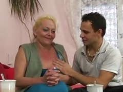 Granny is picked up and besides doggy-fucked