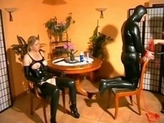 Latex Dom Abuses sub couple