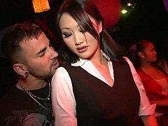 アジア人, デカパイ, クラブ, ダンス, グループ, ハードコア, パーティ, 現実