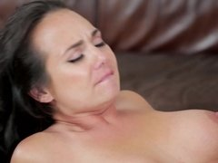 A young stud is sticking his dick into a hot milf with a sexy cunt