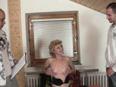 60 long years grown-up skinny granny pleases a duo dudes
