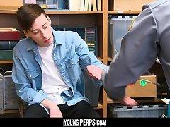 YoungPerps - Dumb twink criminal blows a hung cop