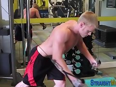 Muscled straight jizzed