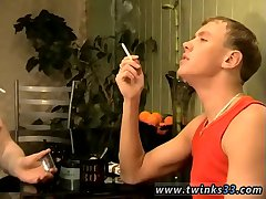 Roma & Gus smoking & kissing