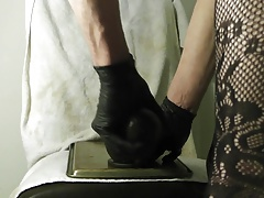 Fag takes Bam in the Butt in Body Stockin