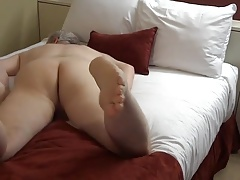 Silver Daddy ass feet bed humping