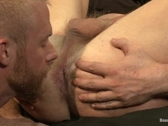 Nasty fairy enjoys hot wax on his body and a cock in his ass