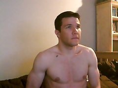 hot muscular boy jacks off