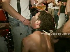 Curly gay boy forced to fuck