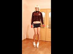 Transvestite in shorts