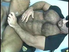 Naughty Cops Threeway Sucking