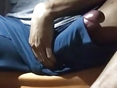 Huge Cock In Shorts, Great Cum Spurts.
