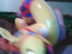 Inflatable horse swim ring