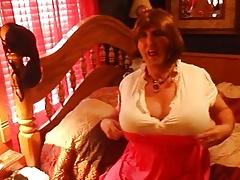 Norma crossdressing alone