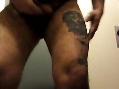 He guzzles his own cum