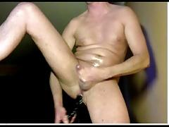 anal dildo & cum
