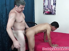 Pinoy twink barebacked while jerking off