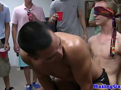 Straight frat pledgers assfucked by stripper