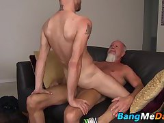 Landon wastes no time dropping and thrusting his hard cock