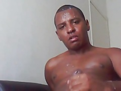 Amazing Black Cock Cum Shooter