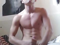 Fit Boy Swallows His Cum