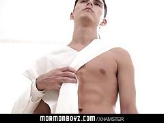 MormonBoyz - Handsome priest leader takes cute virginity