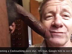 He Sucks Off ANOTHER HUGE BLACK COCK!