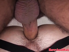 Jockstrap cub bare fucked doggystyle in trio