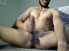 Muscle big back cock cumshot