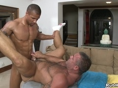 Trace Michaels welcomes Robert Axel's cock in his homosexual butt