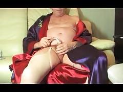 shemale crossdresser urethral sounding lingerie nylon dildo