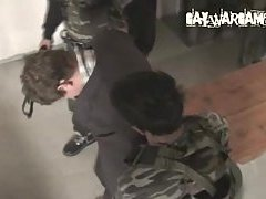Soldiers tortured bound guy