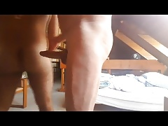 Big dick daddy fucks a cub in the library