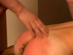 Submissive queer gets his ass spanked and fucked hard