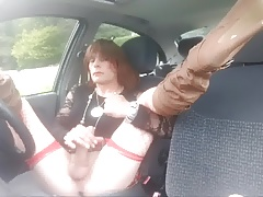 Wanking in car Kinross Park