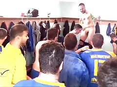 M.A.S. Verginas greek football team - naked in locker rooms