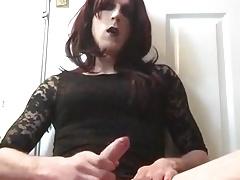 Goth trans cums