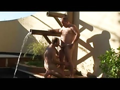Daddy and Gay Fucking on the Pool