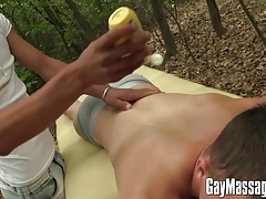 Lukas and Andrew ditch the massage for a better anal one