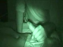 Randy handjob of sleeping guy