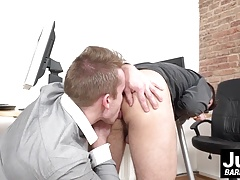 Boss Rob Blond fucks office twink Rudy Valentino up the ass
