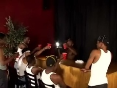 A few black homos have a party and show their bodies to each other